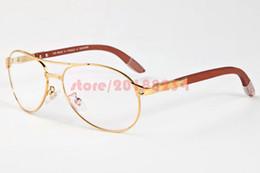 polarized mirrored aviator sunglasses cl0k  2017 Aviator Sunglasses Gold Polarized Sunglasses Gafas Semi Rimless Metal  Frame Classic Men Women Wood Buffalo Outdoor Sun glasses lunettes discount