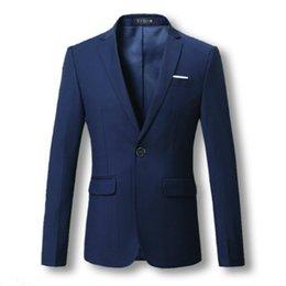 Wholesale Homens Terno Casacos Blazers Vestido Ternos Homens Casual Moda Slim Fit Único Botão Estilo Grande Tamanho Homens Blazers e Jaquetas