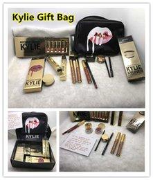 Kylie caixa de presente 10lot Golden Box brilho Suit Maquiagem saco Aniversário coleção cosméticos aniversário Bundle Bronze Kyliner Kylie Jenner Holiday