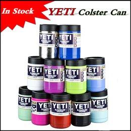 В наличии 11 цветов 12 унций YETI Чашки Рамблер массажер Colster Can Cars Beer Mug большой емкости Кружка 360ml полный стакан Изолированный Koozie чашка
