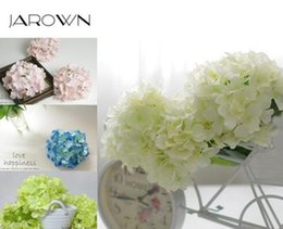 Luxury Artificial Silk Hydrangea Flower Head 15cm For Diy Wedding Wall Flore Party Home Accessory Decoration Flower 20 Colors Dhl Free