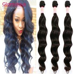 Гламурные Малазийские перуанские бразильских индийских наращивание волос естественная волна 100% первоначально волосы 3PCS / LOT 12