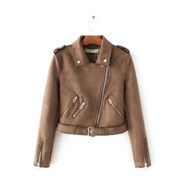 Discount Brown Motorcycle Leather Jacket Women | 2017 Brown ...