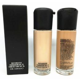 Hot SPF 15 Liquid Foundation Protection solaire naturelle Maquillage de visage à long terme Fondation MACCosmetics Foundation Maquillage Matchmaster