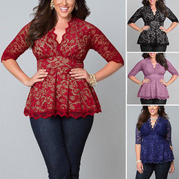 Red Lace Blouse Plus Size Online | Red Lace Blouse Plus Size for Sale