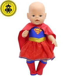 2017 baby girl superman dress 43cm baby born zapf doll clothes new