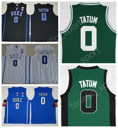 2017 New Men 0 Jayson Tatum Basketball Jerseys Cheap Duke Blue Devils  College Jayson Tatum Jersey Team Black Blue White Green Quality ... f3b2e08d1