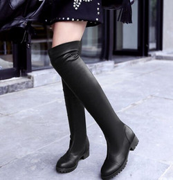 Discount Sexy Thigh High Boots Low Heel | 2017 Sexy Thigh High ...