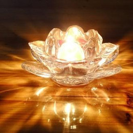 2017 Crystal Votive Holders Wholesale Crystal Lotus Candle Holders Home Decor For Weddings Decoration Votive Candle