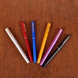 Poche portable télescopique mini pôle de pêche alliage d'aluminium en forme de stylo canne à pêche avec roue bobine mixte couleurs