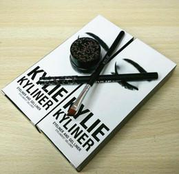 Kylie cosmétiques gel eye-liner Pen Eyebrow 1 set = eye-liner + brosse + crème kylie Jenner kit bronze caméléon Kyliner Black Brown set de maquillage
