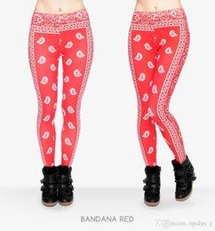 Wholesale 2017 Leggings de la nueva impresión de la aptitud para las mujeres Polaina libre del tamaño Polainas suaves pantalones leggings florales de la yoga para el deporte del deporte de las mujeres patrón de Bandana