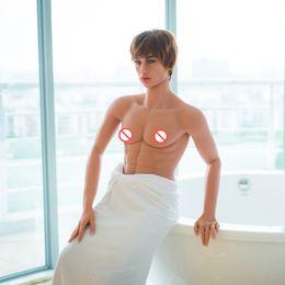 Wholesale 160 cm bonecas gay sexo masculino realista silicone amor boneca pênis mannequins homens reais pode ficar Muscle homens fortes buracos de sexo oral