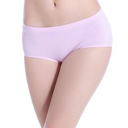 Discount underwear sell Free Shipping 3-Piece package of Solid Color Comfortable Cotton Underwear Cotton Briefs Hot selling Moisture wicking briefs Personal panties