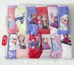 Discount underwear sell 120pc anna elsa movie star cartoon Children girl's Panties 2014 Hot Sell Underwear Briefs 6 styles Bag For 3-13Y Girls Z115