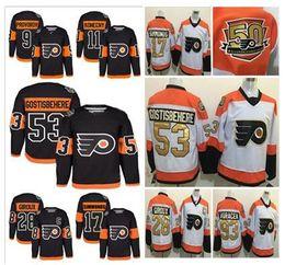 50th 2017 Stadium Series Premier Jersey Filadelfia Flyers # 11 Travis Konecny # 53 Shayne Gostisbehere # 9 Provorov # 28 Giroux Hockey Jerseys