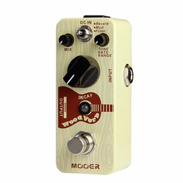 online shopping Mooer WoodVerb Acoustic Guitar Reverb Effects tiny size true bypass Guitar effect pedal