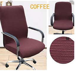 fice Slipcovers Cloth Chair pads Removable Cover stretch cushion Resilient Fabric Coffee