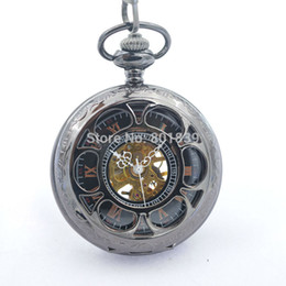 wind up pocket watch online mechanical pocket watch wind up for whole h107 black color vine classical delicacy carved case hand wind up 17 crystals mechanical pocket watch for mens watch