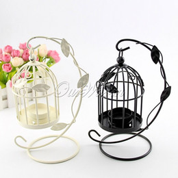 Bird Cage Candlestick Holder European Style Home Decoration Accessories Candle Holders Wedding Candlestick Vintage Home Decor