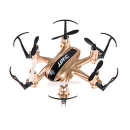 Wholesale- JJRC H20 2.4G 4 Channel 6-Axis Gyro Remote Control RC Drone Quadcopter Nano Hexacopter w/CF Mode Return Golden Helicopter