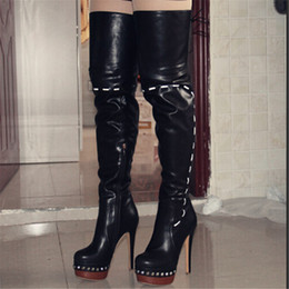Discount Sexy Thigh High Leather Boots | 2017 Sexy Thigh High