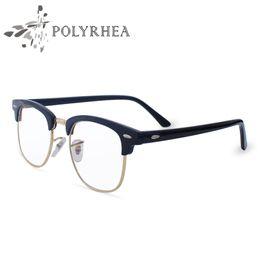2017 classic retro clear lens frames eyeglasses men women half metal eyewear frame women brand designer clear lens eyeglasses