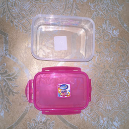 online shopping food preservation box lunch box rectangle plastic box Microwave Portable Picnic Container