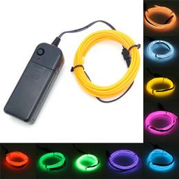 5M EL lumière du fil LED Néon Strip Glow Flexible Tube de la corde de Noël de fête d'anniversaire de mariage décoratifs viennent avec contrôleur