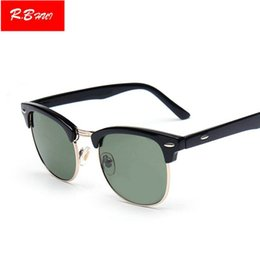 rayban glasses online rc63  Half Alloy Club Sunglasses Classic RAY Men Women Brand Design Eyewear Bans  Mirror Master Sun Glasses UV400 50mm