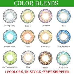 Free Shipping by DHL 3-tone colored contacts fresh color blends contact lenses ready stock free shipping via DHL
