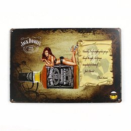 2017 Home Decor Signs Shabby Chic Home Decor Plaques Signs Jack Daniel Old No 7 Brand
