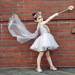 online shopping Liptek2017 lace skirt beautiful lines of children s princess dress shoulder veil beautiful girl flower children s clothes