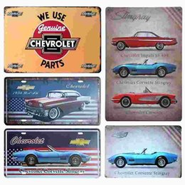 Usa Famous Car Retro Plaque Vintage Home Decor Tin Sign Bar Cafe Hotel Wall Decor Metal Sign Retro Painting Metal Art Poster 20170408