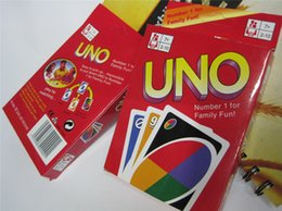 Entretenimiento Juegos de cartas UNO tarjetas Juegos de cartas de póquer de la diversión Juegos de mesa divertidos de la familia Estándar DHL Free Shipping 50sets / lot