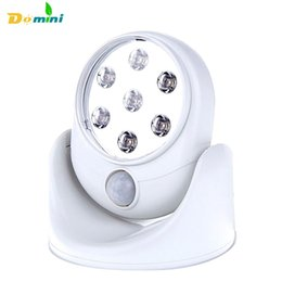 Wholesale  6V 7 LEDs Cordless Motion Activated Sensor Lamps 360 Degree  Night Lights Rotation Wall Lamps Porch Light For Indoor And Outdoor Outdoor  Lighting ...