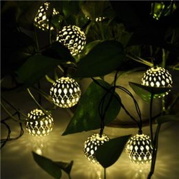 Wonderful Wholesale  3.5m Solar Power Patio Lights String Silver Ball Outdoor 10 Led  Rope Lights Feathers Lights For Christmas Valentineu0027s Day