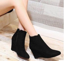 Discount Women Blue Ankle Boots | 2017 Blue Suede Ankle Boots