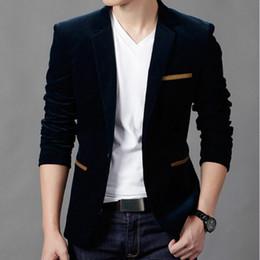 Wholesale Moda Masculina Blazer Estilo britânico Casual Slim Fit Suit Jacket Masculino Blazers Homens Casaco Terno Masculino Plus Size XL