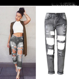 Discount Ripped Jeans Light Blue Big | 2017 Ripped Jeans Light ...