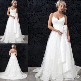 simple lace wedding dresses plus size designer 2017 vestidos de novia a line open back handmade bridal gowns free shipping