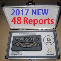 2017 Nova 4 ª Geração 48 Relatórios 4 Core Quantum magnético Ressonância Analisador com Relatório Comparativo Inglês Espanhol Amway DHL Free