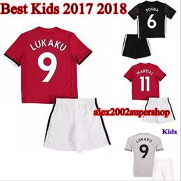 b125035f4 10 pcs kids kits 17 18 POGBA Soccer Jersey United 2017 2018 LUKAKU  IBRAHIMOVIC Rashford MATA Mkhitaryan kids Home away 3RD football shirts  cheap football ...