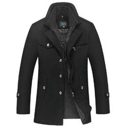 Discount Dark Brown Men Long Winter Coat | 2017 Dark Brown Men