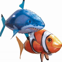 flying fish remote control air swimmers Radio Remote Control Clone Flying Shark Nemo Fish RC Inflatable Balloon