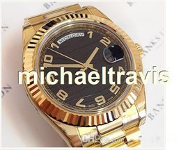 discount watches for men gold color 2017 watches for men gold top brand date watch gold color band black dial automatic movement luxury watches for man 41mm black face mens watches shipping watches for men gold