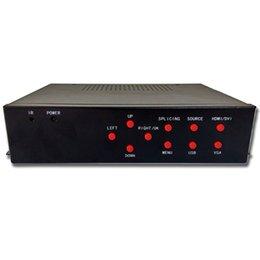Venta al por mayor-2x2 controlador de pared de vídeo 4 hdmi salida vga dvi hdmi de entrada para monitor de pantalla de pared de vídeo