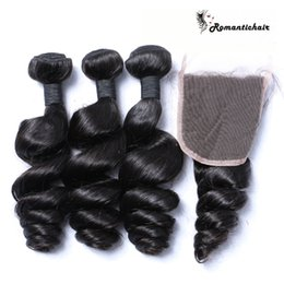 Raw Virgin Brazilian Hair Malaysian Cambodian Peruvian Indian Loose Wave extensions With Closure Hair Bundles Dyeable Best Human Hair