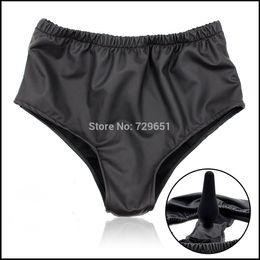 Wholesale Borracha Anal plug latex macho feminino masturbação underwear calcinha com anal pênis pénis plug chastity cinto sexo brinquedo para as mulheres