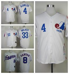 Throwback Jersey 2016 Montreal Expos Jerseys Stitched Baseball 8 Gary Carter  33 Larry .